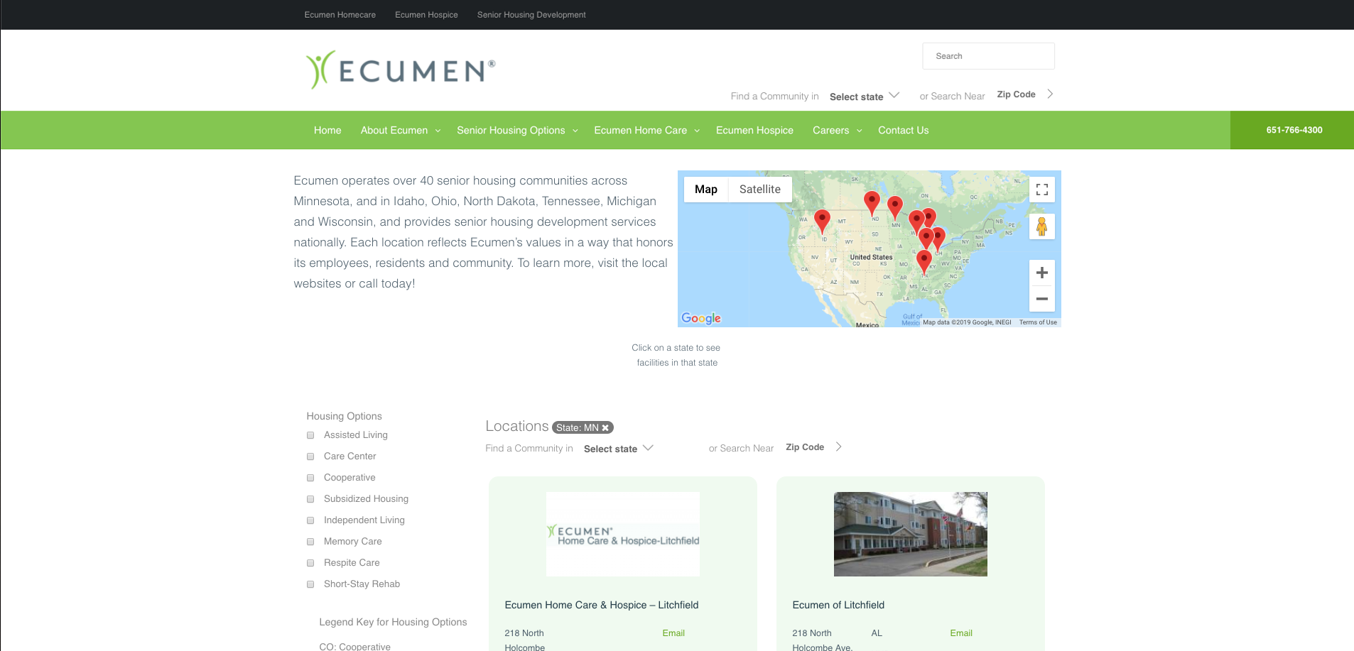 Ecumen Locations After