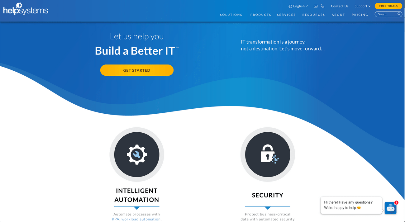 HelpSystems Homepage