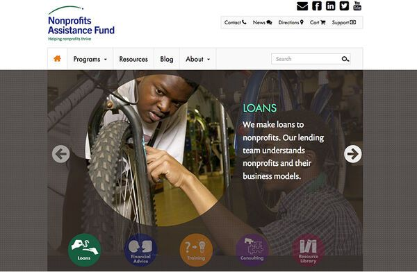 Nonprofits Assistance Fund Website