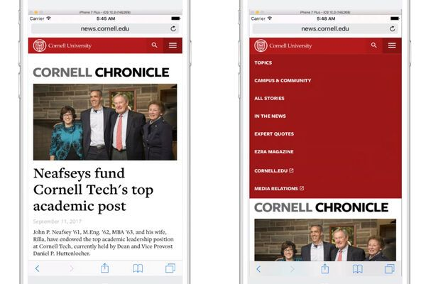 Cornell Chronicle Mobile