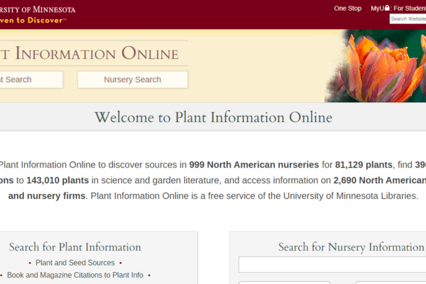 Plant Info Home Page